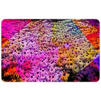 "FoFlor Color Block Daisies Mat 23"" x 36"" Kitchen Mat"