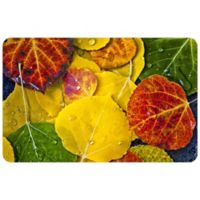 "FoFlor Fall Morning 23"" x 36"" Kitchen Mat in Yellow"