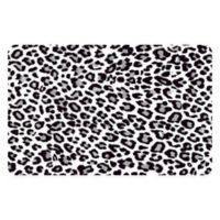 "FoFlor Leopard 23"" x 36"" Kitchen Mat in Blue"