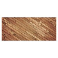 "FoFlor Angled Planks 25"" x 60"" Kitchen Mat in Brown"