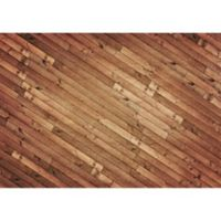 "FoFlor Angled Planks 46"" x 66"" Kitchen Mat in Brown"