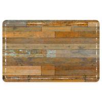 "FoFlor Designer Wood 23"" x 36"" Kitchen Mat in Medium Brown"
