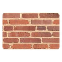 "FoFlor Brick 23"" x 36"" Kitchen Mat in Red"