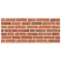 "FoFlor Brick 25"" x 60"" Kitchen Mat in Red"