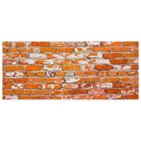 """FoFlor Brick Springfield 25"""" x 60"""" Kitchen Mat in Orange"""