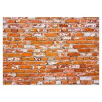 "FoFlor Brick Springfield 46"" x 66"" Kitchen Mat in Orange"