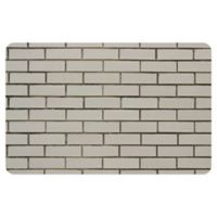 "FoFlor Brick 23"" x 36"" Kitchen Mat in White"