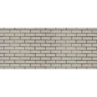 "FoFlor Brick 25"" x 60"" Kitchen Mat in White"