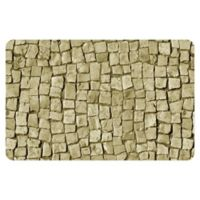 "FoFlor Stone Square 23"" x 36"" Kitchen Mat in Beige"