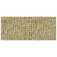 "FoFlor Stone Square 25"" x 60"" Kitchen Mat in Beige"