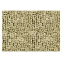 "FoFlor Stone Square 46"" x 66"" Kitchen Mat in Beige"