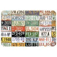 "FoFlor License Plate 23"" x 36"" Kitchen Mat"