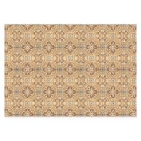 "FoFlor Casa 46"" x 66"" Kitchen Mat in Gold"