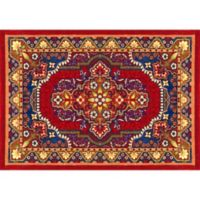 "FoFlor Raja 46"" x 66"" Kitchen Mat in Red"