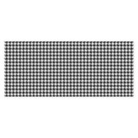 "FoFlor New Houndstooth 25"" x 60"" Kitchen Mat in Black/White"