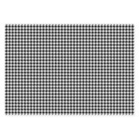 "FoFlor New Houndstooth 46"" x 66"" Kitchen Mat in Black/White"