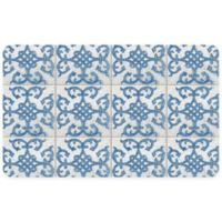 "FoFlor Bantry Bay 23"" x 36"" Kitchen Mat in Blue"