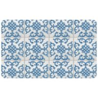 "FoFlor Bantry Bay 25"" x 60"" Kitchen Mat in Blue"