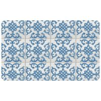 "FoFlor Bantry Bay 46"" x 66"" Kitchen Mat in Blue"