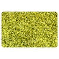 "FoFlor Shag 23"" x 36"" Kitchen Mat in Lime Green"