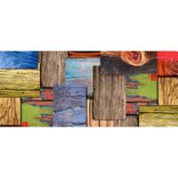 "FoFlor Layered Wood 25"" x 60"" Kitchen Mat"