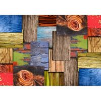 "FoFlor Layered Wood 46"" x 66"" Kitchen Mat"