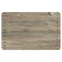 "FoFlor Nailed Planks 23"" x 36"" Kitchen Mat in Khaki"