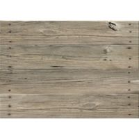 "FoFlor Nailed Planks 46"" x 66"" Kitchen Mat in Khaki"