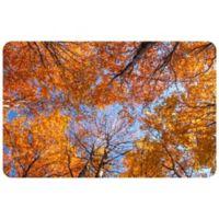"FoFlor Looking Autumn Leaves 23"" x 36"" Kitchen Mat in Orange"