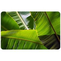 "FoFlor Banana Leaves 23"" x 36"" Kitchen Mat in Green"