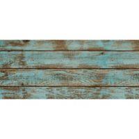 "FoFlor Roughwood 25"" x 60"" Kitchen Mat in Aqua/Brown"