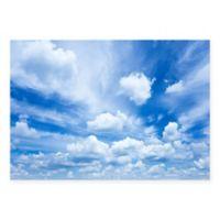 "FoFlor Mr. Blue Sky 46"" x 66"" Kitchen Mat in Blue"