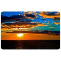 "FoFlor Sunset Blues 23"" x 36"" Kitchen Mat"