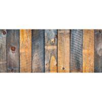 "FoFlor Pine Top 25"" x 60"" Kitchen Mat in Grey/Brown"