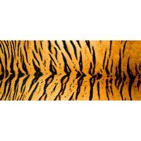 "FoFlor Rustic Tiger 25"" x 60"" Kitchen Mat in Orange"