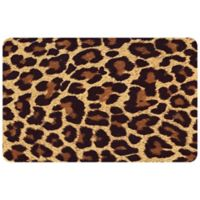 "FoFlor Big Cat Hide 23"" x 36"" Kitchen Mat in Brown"