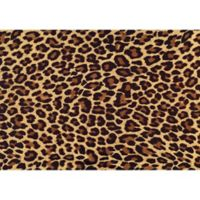 "FoFlor Big Cat Hide 46"" x 66"" Kitchen Mat in Brown"