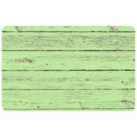 "FoFlor Garden Rustic Wood 23"" x 36"" Kitchen Mat in Green"
