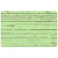 "FoFlor Garden Rustic Wood 23"" x 36"" Kitchen Mat in Green"