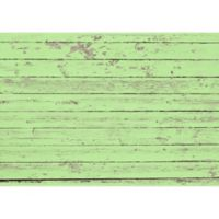 "FoFlor Garden Rustic Wood 46"" x 66"" Kitchen Mat in Green"