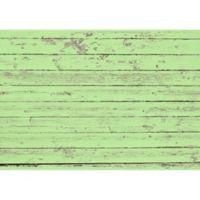 "FoFlor Garden Rustic Wood 46"" x 66"" Kitchen Mat in Green"