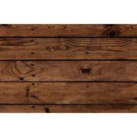 """FoFlor Dark Wood Plank 23"""" x 36"""" Kitchen Mat in Brown"""