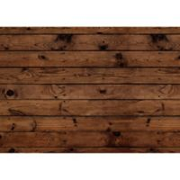 """FoFlor Dark Wood Plank 46"""" x 66"""" Kitchen Mat in Brown"""