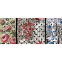 "FoFlor Floral Woodgrain 25"" x 60"" Kitchen Mat in Pink/Blue"
