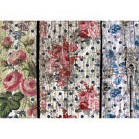 "FoFlor Floral Woodgrain 46"" x 66"" Kitchen Mat in Pink/Blue"