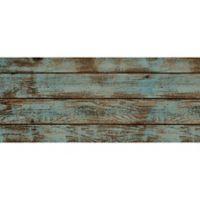 """Foflor Dark Painted Floor 25"""" x 60"""" Kitchen Mat in Aqua/Brown"""