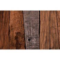 "FoFlor Dark Caligari Wood 23"" x 36"" Kitchen Mat in Brown"