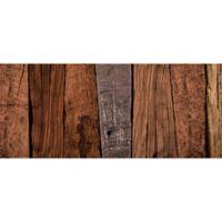 "FoFlor Dark Caligari Wood 25"" x 60"" Kitchen Mat in Brown"