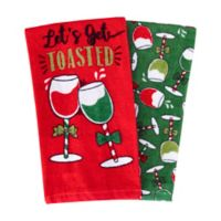 """""""Get Toasted"""" Kitchen Towels (Set of 2)"""