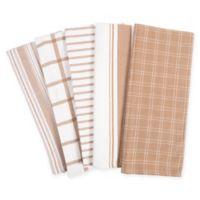 KAF Home Kitchen Towels in Tan (Set of 5)